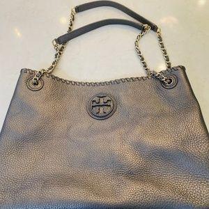 Marion Metal Chain Silver Shoulder Bag
